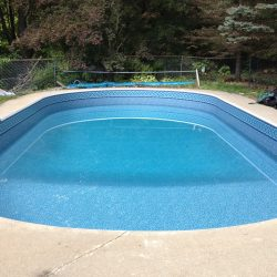 new built pool